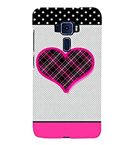 Checks Love Design 3D Hard Polycarbonate Designer Back Case Cover for Asus Zenfone 3 Deluxe ZS570KL