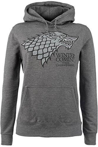 Game Of Thrones House Stark - Winter Is Coming Felpa donna grigio sport L