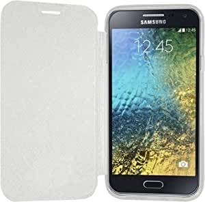 Dk Caidea flip cover for Samsung on 5 (white)