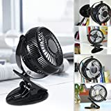 WEINAS Mini USB Clip and Desk Personal Fan - 5 Inch Portable 2 Mode Speed Plastic Fans Cooling Small Office 360 Adjustable for Home Office