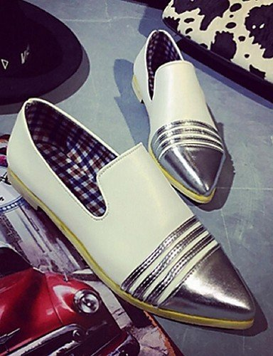 ShangYi Scarpe Donna - Mocassini - Casual - A punta - Basso - Finta pelle - Nero / Beige beige