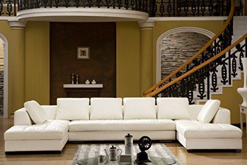 Design Voll-Leder Ecksofa-Sofa-Garnitur-Ecke Wohnlandschaft 5059-2HU-W