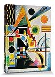 1art1 81181 Wassily Kandinsky - Balancement, 1925 Poster Leinwandbild Auf Keilrahmen 80 x 60 cm