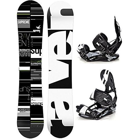 Snowboard Set: Snowboard Raven Supreme 2017 +