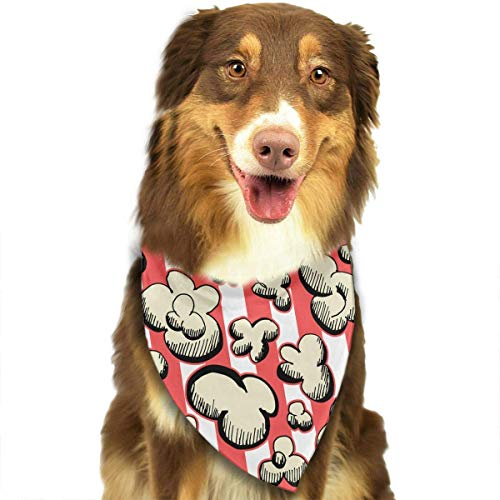Rghkjlp Cartoon Popcorn Seamless Pattern Triangle Bandana Scarves Accessories for Pet Cats and Dogs - - Popcorn Kostüm Für Hunde