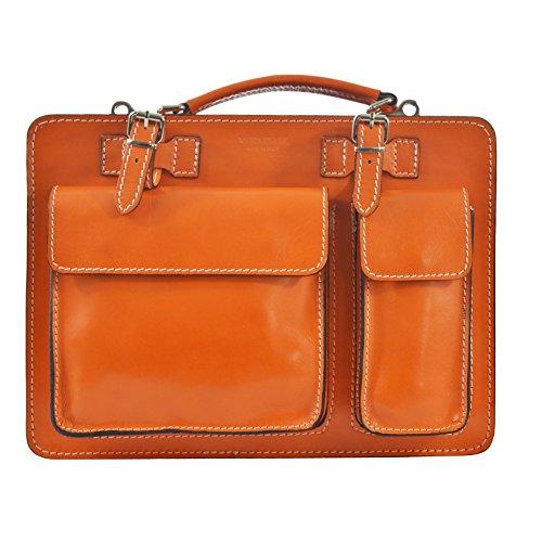 Chicca Tutto Moda CTM Unisex Business Tasche, Aktentasche, Organizer in italienischem Leder Made in Italy D7006-35x25x12 cm -