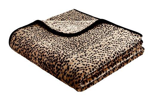 Couvre-lit De Luxe pour femme Motif léopard des neiges Taille : 240 x 220 cm-L