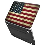 iBenzer - Soft-Skin Smooth Finish Plastic Hard Case Cover for Macbook Pro 13'' (A1278) WITH CD-ROM US Flag UK-MMP13USFL