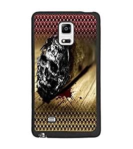 PrintDhaba Skull D-4030 Back Case Cover for SAMSUNG GALAXY NOTE EDGE (Multi-Coloured)