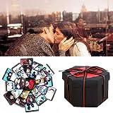 Yukio Festival-Fotoalbum Kreative Überraschung DIY Box Explosions Box für Geschenk Jahrestag Valentine Hochzeit Gedenkalben