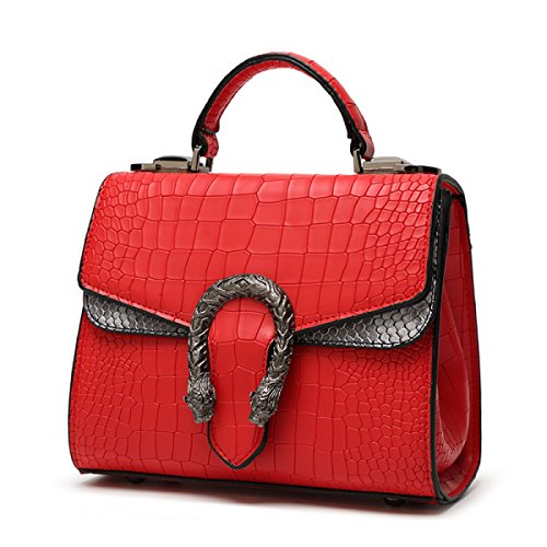FZHLY 2017 Estate Di Modo Piccoli Nuovi Femminile Shoulder Bag Messenger,Black Red