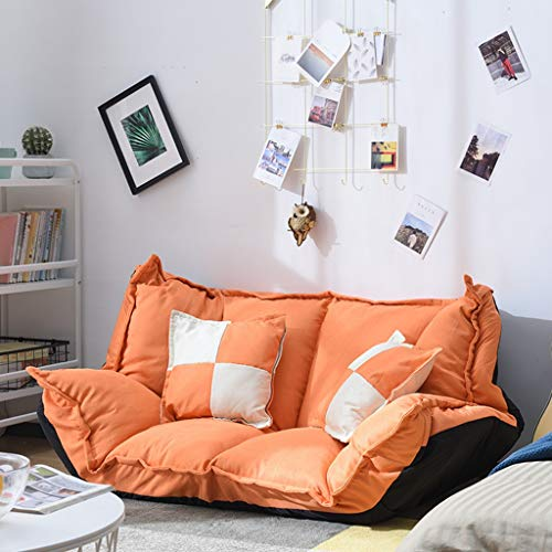 Faltbares Multifunktionsschlafsofa, Schlafzimmer Tatami, Lazy Lounge Chair (Farbe : Orange) -