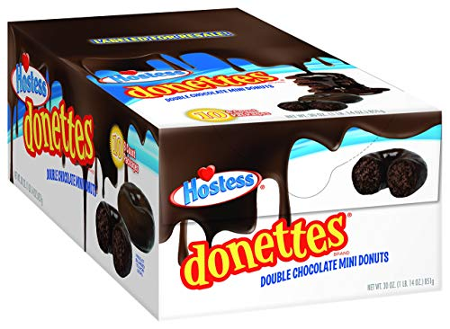 Hostess Double Chocolate Mini Donettes - 10 x 6 Pack - 60 Doughnuts - American Donuts ...