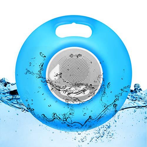 Bluetooth Lautsprecher Outdoor mit Deko Stimmungslicht IPX7 Wasserdicht Freisprecheinrichtung Musikbox Nachtlicht mit 7 Farbwechsel für Kinderzimmer, Strand, Party, Camping, Garten und Schwimmbad