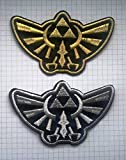 Legend of Zelda Hyrule's Royal Crest Logo Embroidered Cloth Iron On Patches 10.2 x 6 cm (set 2 items)