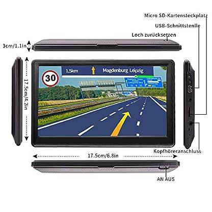 WayGoal-Auto-Navigation-LKW-GPS-Navi-Navigation-7-Zoll-16GB-mit-POI-Blitzerwarnung-Sprachfhrung-Fahrspurassistent-und-2019-Europa-52-Karten