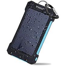 Innoo Tech Cargador Solar de 10000mAh,Power Bank portátil con Batería Externa y Protección IP65 (a prueba de golpes, agua y polvo), Indicadores LED de ...