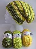 my boshi Häkelset Mütze oliv, avocado, löwenzahn wie abgebildet m. 150g myboshi Lara's Creations Anleitung (Set 1: Wolle + Label)