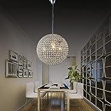 WWOWW @Beleuchtung Dekoration Moderne Kronleuchter Kristall Ball Befestigung Anhänger Deckenleuchte 1 Licht Esszimmer Wohnzimmer Schlafzimmer Flur Eintrag (Größe : 40cm)