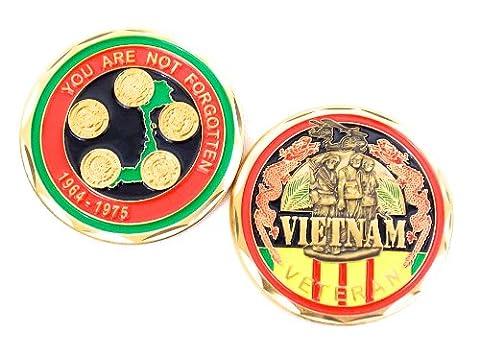 Decoration Militaire Guerre du Vietnam Challenge coin Veteran Ancien combattant de l'armée