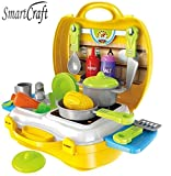 #6: Smartcraft Ultimate Kid Chef Bring Along Kitchen Cooking Suitcase Set (26 Pieces)