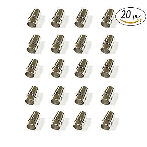 Rekyo enregistrer 20lectures Cordon Cuir Extrémité/Fermoir magnétique avec mécanisme de verrouillage Cuir Corde Bracelet Boucle, 6mm