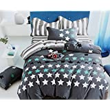 Ross Pringle King Size Premium Cotton Feel Branded Double Bed Sheet Set With 2 Pillow Covers By Kind Bliss - Modern Geometric Collection, Designer Printed, Soft & Breathable 3Pc Luxury Bedding Combo Offer For Home & Hotel - Trendy Packed Bed Linen