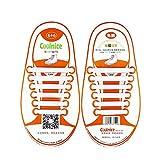 Mocent - Cordones elásticos de silicona para zapatos de niños y adultos, fáciles de lavar, disponibles en varios colores Blanco Size: Bambino