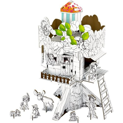 Pipa Lupina Pipa 's Tree House, 40 x 66 x 41 cm, Modell # 10996 (Sticks Small Animal)