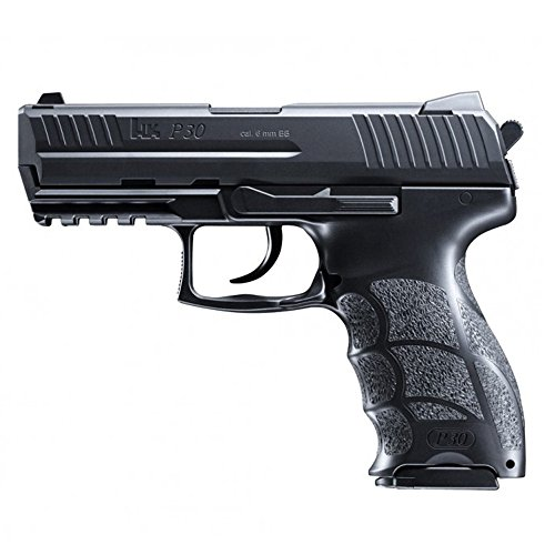 HECKLER & KOCH Softair P30. mit Maximum 0.5 Joule Airsoft Pistole, Schwarz, 6 mm -