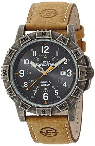 Timex-T49991-Orologio-Analogico-da-Polso-da-Uomo-Pelle-Marrone