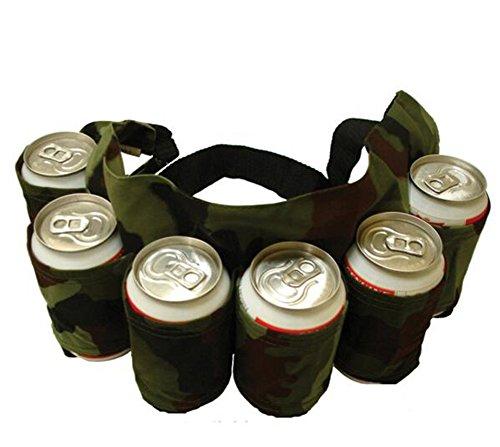 ODN Outdoor-6-Pack Bier oder Wasser Taschen Holster Getränk Partei Gürtelhalter tragen (Armee) (Six Pack Bier)