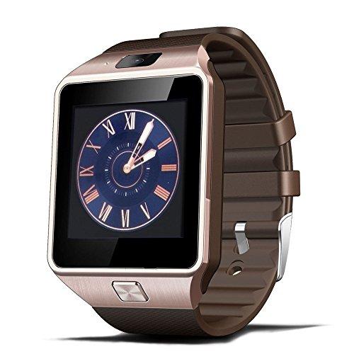 DZ09-Armbanduhr-Bluetooth-Smartwatch-Handy-Uhr-Smartwatch-uhr-fr-Android-Samsung-Galaxy-S6S5S4-iPhone-6-Plus65s-HTC-Huawei-Nokia-Sony-Z3-mit-Kamera-SIM-156-Zoll-Golden