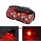 #9: Schrödinger10006 RAYPAL 2 x LED Bicycle Cycling Cycle Bike Rear Tail light Red Super Bright