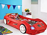 Storm Children's Racing Car Bed With Mattress and Working Headlights