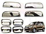 #5: RedClub Galio/ Prius Handle/ Catch Covers Finger Guards Combo for Wagon R (All Models) (Chrome) [Made in India] with Complementary 01 Pair of RedClub Blind Spot Mirrors + RedClub Pen Free