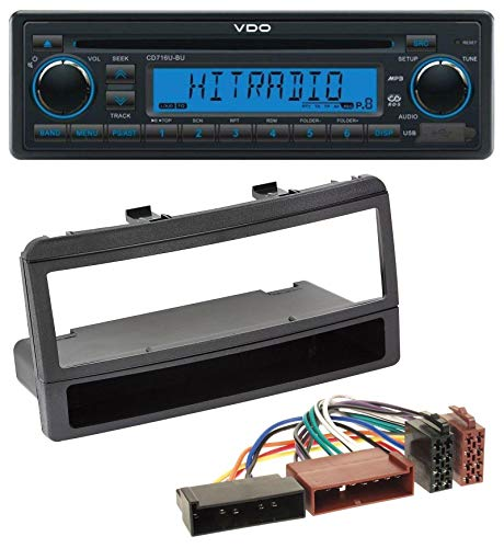 caraudio24 VDO CD716U-BU AUX MP3 1DIN CD USB Autoradio für Ford Focus Cougar Escort Fiesta Ablagefach