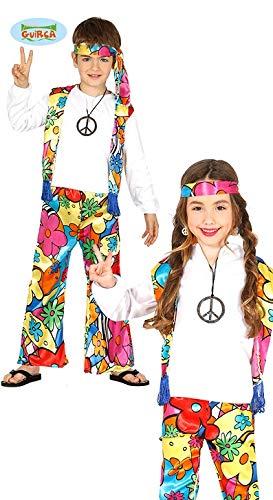 Generique Hippie-Kostüm mit Großen Blumen für Kinder 98/104 (3-4 Jahre) (Kostüm Hippie Kinder)