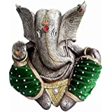 [Sponsored]N&V Antique Elephant Ganesha Idol Hindu Figurine Showpiece Size (Height : 20 Cm X Width : 20 Cm X Length: 28 Cm)