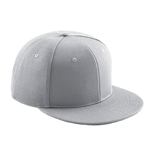 Beechfield Signature 6 Panel Snapback - Light Grey -