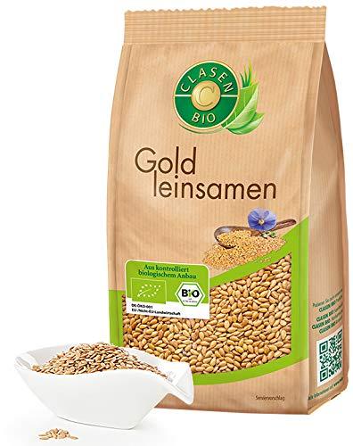 CLASEN BIO Goldleinsamen - 3x500g, ungeschält, von Natur aus vegan und glutenfrei, biologischer Anbau