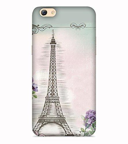 Printvisa Eiffel Tower Art Symbol Paris Designer Printed Hard Back Case For Oppo A71