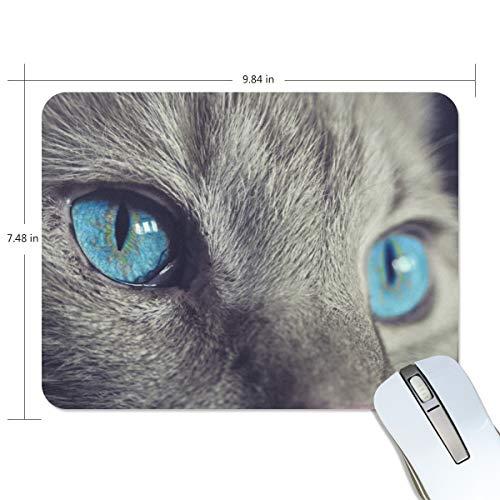 MONTOJ Gaming-Mauspad Ocean Color Eye Cat Computer-Tastatur, wasserabweisend, rutschfeste Unterseite, ideal für Gaming und Arbeiten