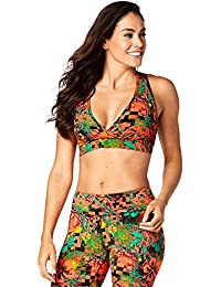 Zumba Fitness® Queen of The Jungle Reversible V Bra Mujer Tops, Mujer, Queen