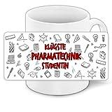 Tasse für-Studenten mit Motiv - Klügste Pharmatechnik-Studentin - | Studenten-Geschenk | Studenten-Tasse