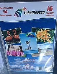 LabelHeaven LH-A6180-32 Fotopapier, A6, 105 x 148 mm,180 g/qm, 100 Blatt