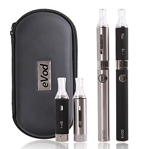 Cigarette électronique kit complet,Oummit Nouvelle e-Cigarette eVod Avec la Batterie 1100mAh Cigarette kit usb rechargeable Contient pas de nicotine ni de tabac.(Lot de 2) (eVod)