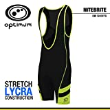 Optimum Men's Nitebrite Cycling Bib Shorts, Black/Fluro Green, Large