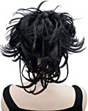 Kalyss 12 Zoll kurzes wellenförmiges Culry Pferdeschwanz handgemachte Flechten Haar-Verlängerung mit Klauen Klipp im Hairpiece