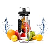 FruQua Fruit Infuser Water Bottle 900ml/32oz, BPA-Free, Shatter-Resistant and Impact-Resistant, Ideal for Your